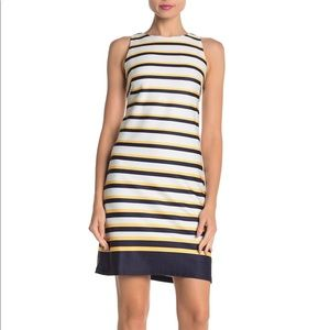 Vince Camuto Size 16 Striped Midi Dress Length 38""